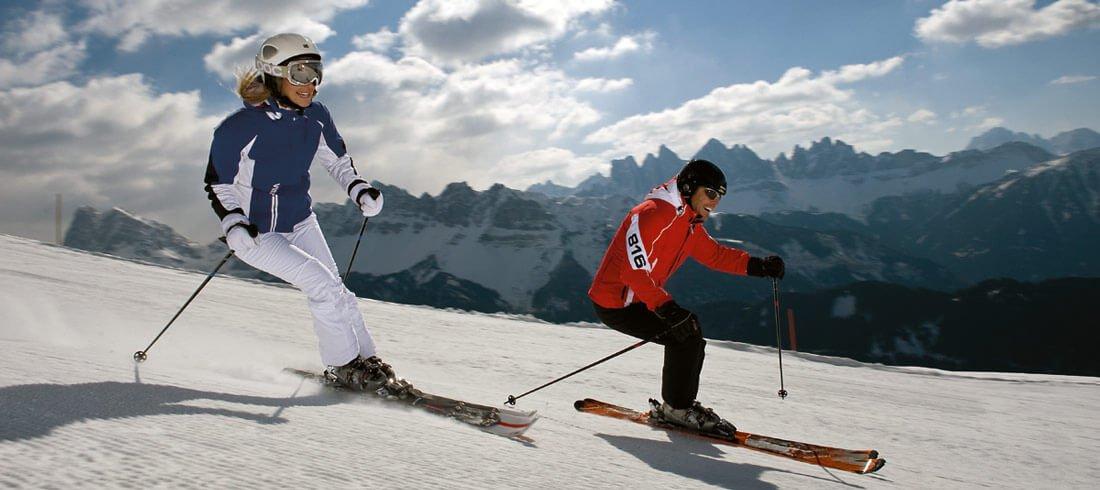 Im Skigebiet Plose kommen Skifahrer und Snowboarder auf Ihre Kosten
